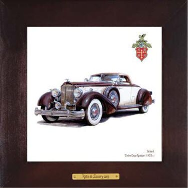 Packard, Twelve Coupe Roadster (1935 г.) 18х18 см